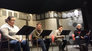 Cast in rehearsal