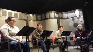 Cast in rehearsal